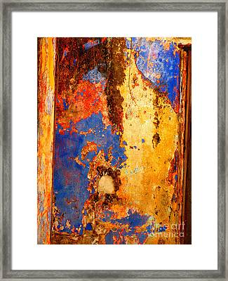 Plaster Abstract 6 By Michael Fitzpatrick Framed Print