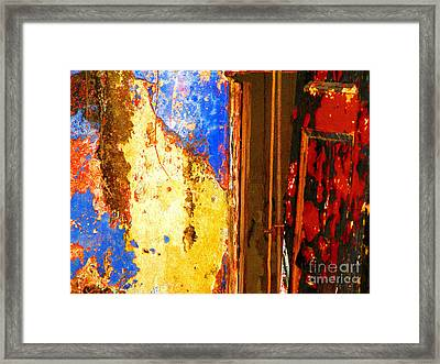 Plaster Abstract 7 By Michael Fitzpatrick Framed Print