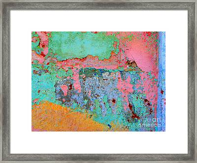 Plaster Abstract 8 By Michael Fitzpatrick Framed Print
