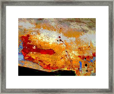 Plaster Abstracts 1 By Darian Day Framed Print by Mexicolors Art Photography
