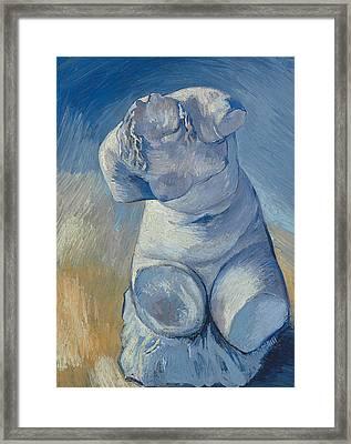 Plaster Statuette Female Torso Framed Print by Vincent Van Gogh