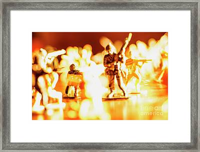 Framed Print featuring the photograph Plastic Army Men 1 by Micah May