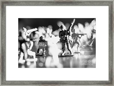 Framed Print featuring the photograph Plastic Army Men 2 by Micah May