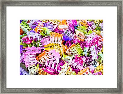 Plastic Hairclips Framed Print by Tom Gowanlock