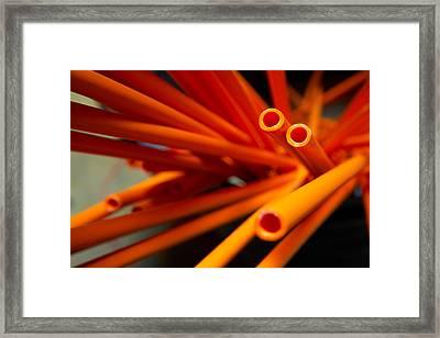 Plastic Pipes Framed Print