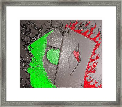 Plastice Aces Framed Print by Chad Taber