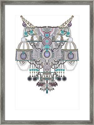 Plastron- Jewel Necklines Framed Print by Sandrine Kespi