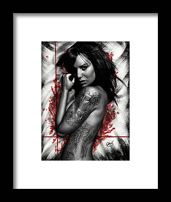Pin Up Girl Framed Prints