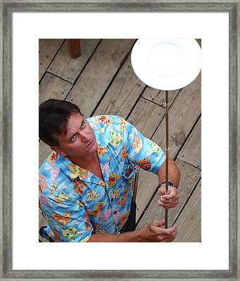 Plate Juggler 6689 Framed Print