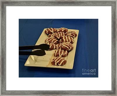 Plate Of Cookies Framed Print by Anita Goel