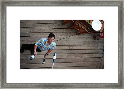 Plate On Chin 6690 Framed Print