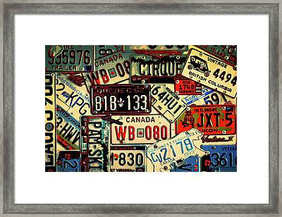 Plates Galore Framed Print