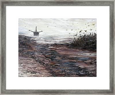 Platform Framed Print by Judy Merrell