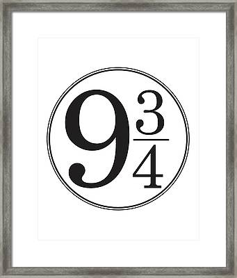 Platform Nine And Three Quarters - Harry Potter Wall Art Framed Print
