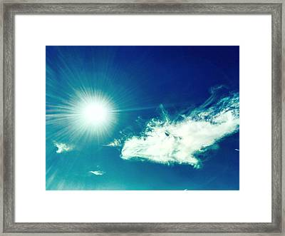 Platinum Rays And Angelic Cloud Bless The Prairie Framed Print