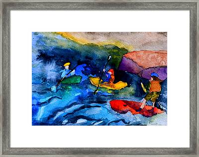 Platte River Paddling Framed Print