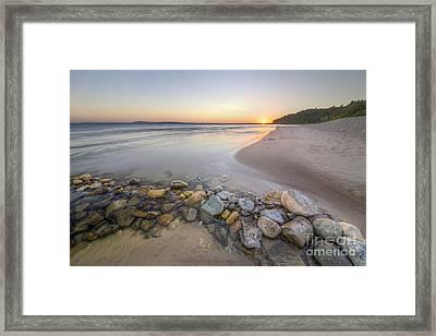 Platte River Sunrise Framed Print