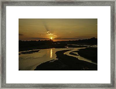 Platte Sunrise 3890 Framed Print