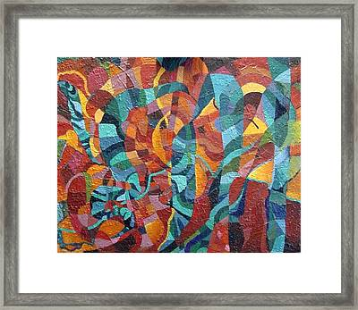 Framed Print featuring the painting Platyhelminthes by Bernard Goodman