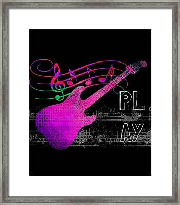 Framed Print featuring the digital art Play 5 by Guitar Wacky