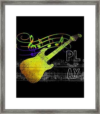 Framed Print featuring the digital art Play 2 by Guitar Wacky