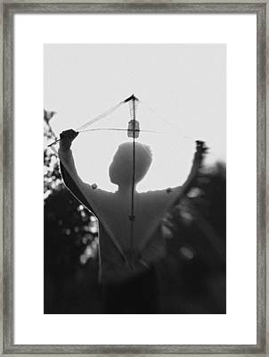 Play A Kite #2 Framed Print by Jay Satriani
