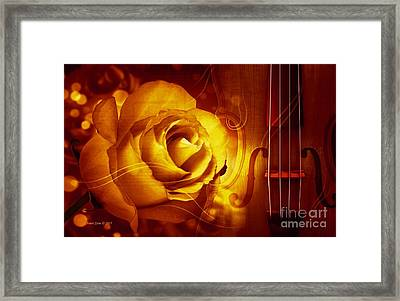Play A Love Song Framed Print by Annie Zeno