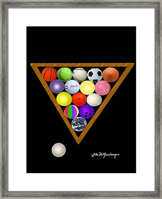 Play Ball Framed Print by John Wolfersberger