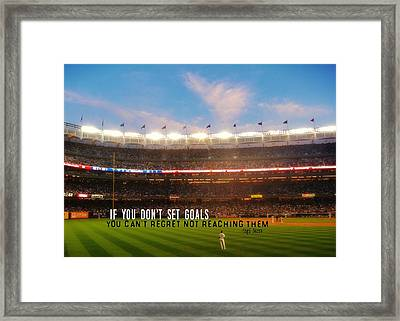 Play Ball Quote Framed Print by JAMART Photography