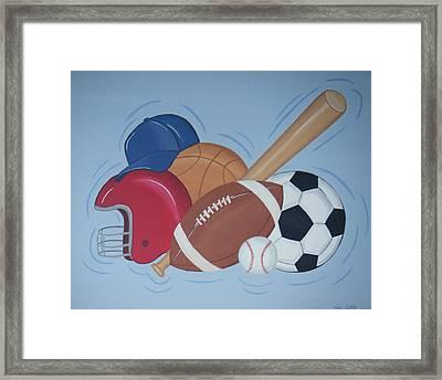 Play Ball Framed Print by Valerie Carpenter