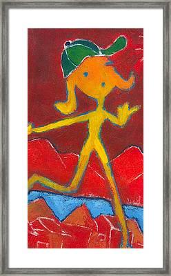 Play Girl Framed Print by Ricky Sencion