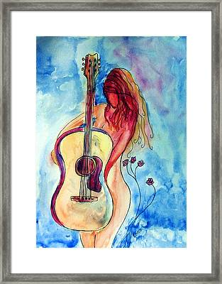 Play Me A Song Framed Print by Robin Monroe