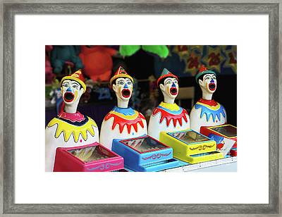 Play Me - Carnival Clowns By Kaye Menner Framed Print