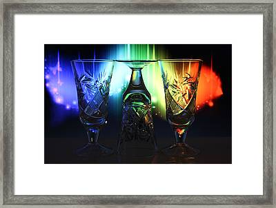 Play Of Glass And Colors Framed Print