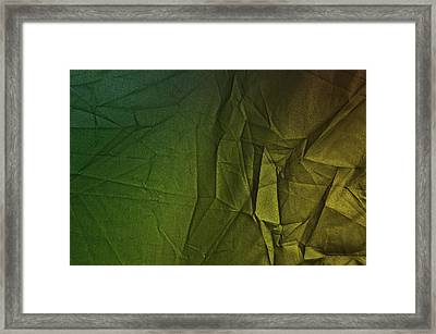 Play Of Hues. Forest Green And Olive Drub Gold. Textured Abstract Framed Print