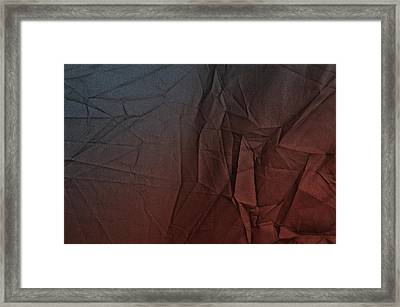 Play Of Hues. Sapphire Blue And Burnt Umber. Textured Abstract Framed Print