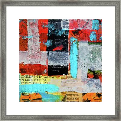 Play Party Abstract Framed Print