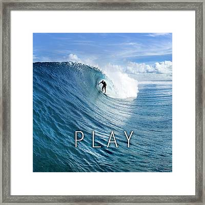 Play. Framed Print