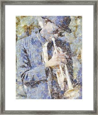 Play The Blues Framed Print by Shirley Stalter
