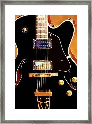 Play Them Blues Framed Print by Barry Jones