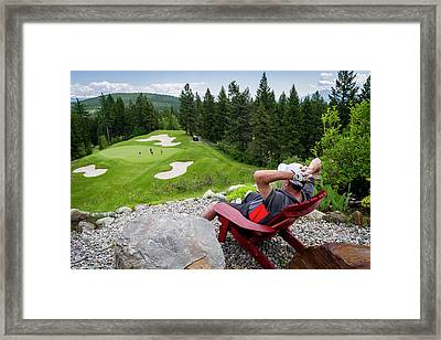 Framed Print featuring the photograph Play Through Or Enjoy The View by Darcy Michaelchuk