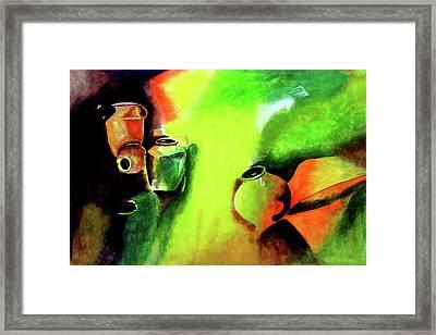 Play With Clay Framed Print by Farah Faizal