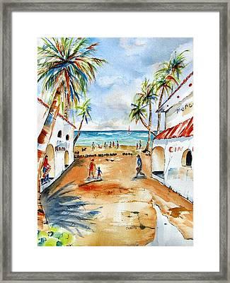 Playa Del Carmen Framed Print