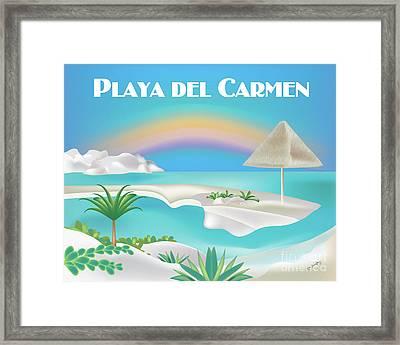 Playa Del Carmen Mexico Horizontal Scene Framed Print