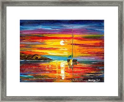 Playa Del Sol Framed Print by Jessilyn Park