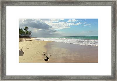 Playa El Ultimo Trolly Framed Print