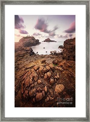 Playa Munecos Framed Print by Geoffrey Gilson