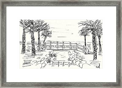 Playa Playamar In Torremolinos Framed Print
