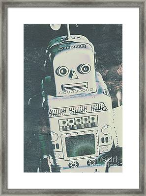 Playback The Antique Robot Framed Print by Jorgo Photography - Wall Art Gallery