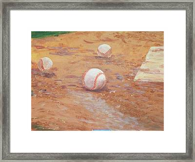 Playball Framed Print